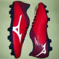 Sepatu Bola Mizuno Rebula V4 MD (High Risk Red/White/Blue Depths)