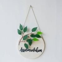Door Hanger Assalamualaikum (Hiasan Dinding/Hiasan Pintu/Dekorasi)