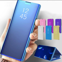 Flip Mirror Case Samsung A70/A70S Clear View Standing Cover