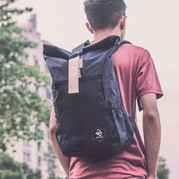 Tas Ransel Pria Arcio Theo Roll Top Backpack - Navy