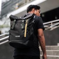 Tas Ransel Pria Arcio Logan Roll Top Backpack - Black