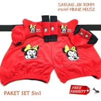 Sarung Jok Bantal Mobil Mickey Minie Mouse 5in1 Model Rompi Universal