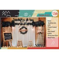 Dekorasi backdrop photobooth lamaran / tunangan / pernikahan / wedding