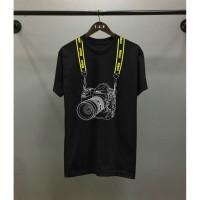T-shirt pria distro kamera kaos kamera canon kaos pria murah baju pria