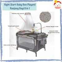 Right Starts 8 in 1 Playard and Baby Box Ranjang Bayi + Ayunan