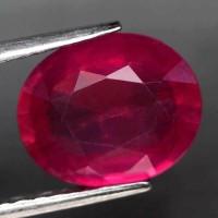 BATU NATURAL 4.74 Ct. Ruby Natural Pinkish Red Mozambique