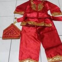 Baju adat daerah sumatera barat padang minang anak laki laki - Size S