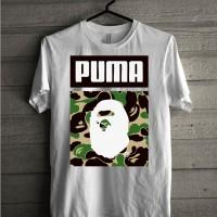 Kaos Baju T Shirt Distro Bape X Puma L1346