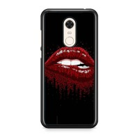 Hardcase Xiaomi Redmi 5 Plus Mouth red EN0466