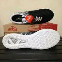 Sepatu futsal specs equinox black gold white 400773 original