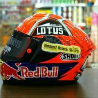 Helm INK CL Max Repaint Shoei X14 Marc Marquez 93 Orange Fluo Ant D