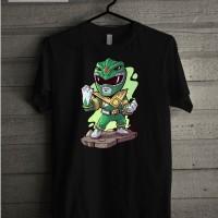 Kaos Baju T Shirt Distro Power Rangers Gree Ranger W7354