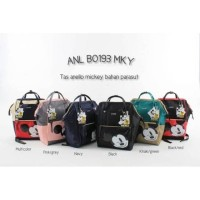 Tas Perlengkapan Bayi Ransel Bag Backpack Anello Mickey Mouse PARASUT