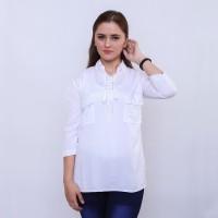 Atasan Wanita Baju Atasan Blouse Casual Murah Warna Putih Ori HR 112