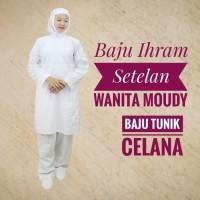 Setelan Baju Ihram Ihrom Wanita Moudy Katun Perlengkapan Haji Umroh