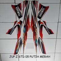 Striping Stiker Motor Yamaha Jupiter Z STD 2005 Lis Putih Merah