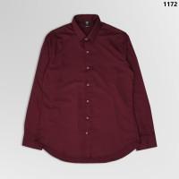 1172 Long Man Shirt Red Maroon Premium - M