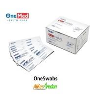ORIGINAL!! TISSUE ALKOHOL SWAB PEMBERSIH ONESWABS 2 PLY 100pcs / BOX