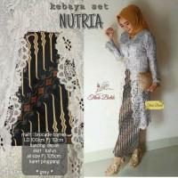 Baju wanita rnb kebaya set seri nutria batik mix brokat cantik