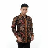 Batik Baju Batik Kemeja panjang Pria Merak
