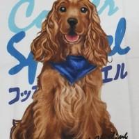 Kaos /T shirt/Baju/Kaos gambar hewan/Kaos gambar anjing COOKER SPANIEL