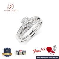 cincin berlian asli classic natural emas 18k original INTVVS55O34