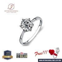 cincin berlian asli classic natural emas 18k original INTVVS55O39