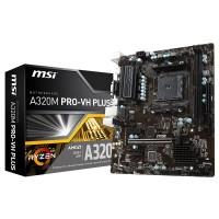 MSI A320M Pro VH Plus (AM4, AMD Promontory A320, DDR4, USB3.1, SATA3)