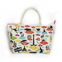 Tote Bag Tas Wanita Kanvas Souvenir Oleh oleh Khas Jakarta CT5 015