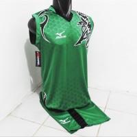 Setelan Jersey Mizuno Singlet Batik Baju Bola Kaos Olahraga Warna Hi