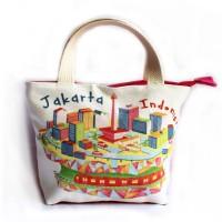 Tas Jinjing Kanvas Oleh oleh Souvenir Khas Jakarta CT1 003