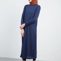 HIJABENKA Mufida Manset Dress Navy
