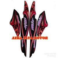 Striping / Sticker Yamaha Mio Sporty Hitam Corak Kembang / bunga