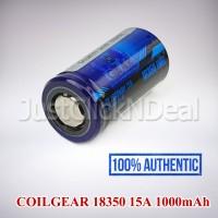 Baterai 18350 Coil Gear 15A 1000mAh Authentic