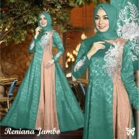 Gamis Maxi / Baju Dress Pesta Wanita Muslim Reniana Jumbo Good Quality