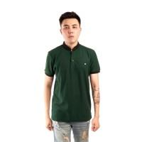 polo shirt pria lacost green slimfit / baju kaos kerah sanghai green
