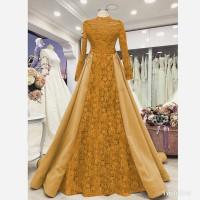 Baju Gamis Dress Muslim Terbaru Nurmalasari Maxi Gold
