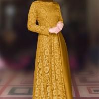 Baju Gamis Dress Muslim Terbaru Carisa Maxi Gold