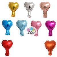 balon foil love / balon foil hati super mini 10cm - Gold