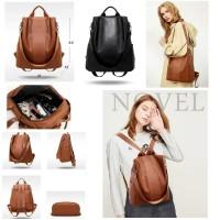 PU Leather Cool Girl Anti Thift Backpack /Tas Ransel Wanita