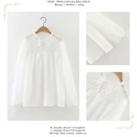 baju atasan jumbo putih tipis transparan