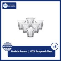 Duralex Picardie Gelas Latte, Coffee 130ml Set Of 6 -Tempered Glass