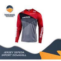 Jersey Sepeda Import SRAM N016 Downhill MTB Baju Gowes Lengan Panjang