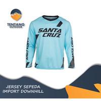 Jersey Sepeda Import SANTA CRUZ N013 DH MTB Baju Gowes Lengan Panjang