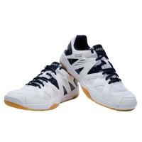 Sepatu badminton pria badminton shoes max comfort white black