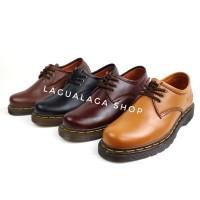Sepatu Boots Pria Low Boots 3 Hole Like Docmart Kulit Sapi Asli 1060