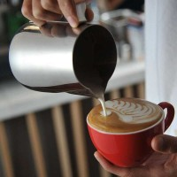 Gelas Pitcher Kopi Teh susu Minyak Espresso Latte Art Jug Foam 300ml