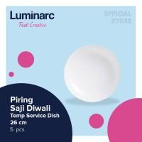 Luminarc Piring Saji Diwali - Tempered Service Dish 26 cm - 5 pcs