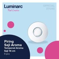 Luminarc Piring Saji Aroma - Tempered Aroma Saucer 14 cm - 6 pcs