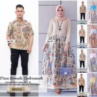 Baju Batik Couple Gamis Maxi Brokat Cendrawasih